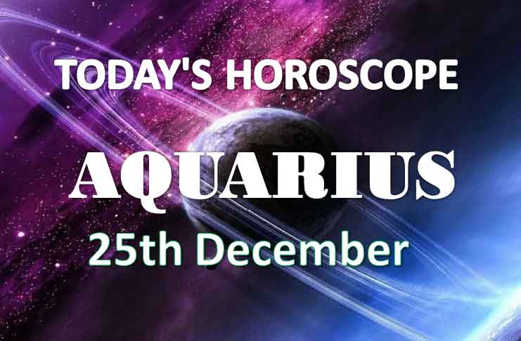 aquarius daily horoscope 25th december 2020