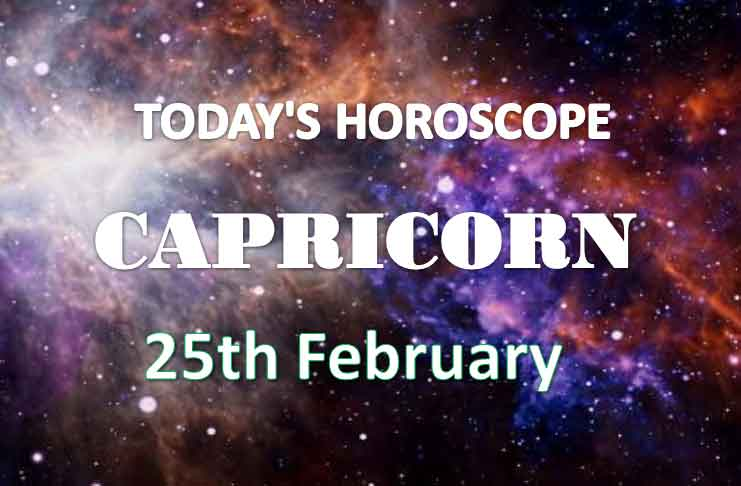 capricorn daily horoscope 25th february 2021
