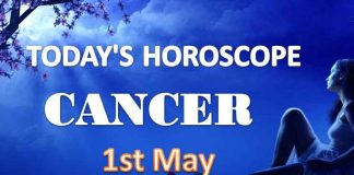 cancer daily horoscope for today saturday may 1st 2021