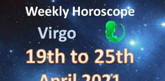 virgo weekly horoscope 19th to 25th april 2021
