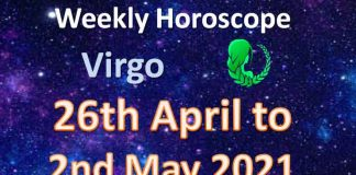 virgo weekly horoscope 26th april to 2nd may 2021