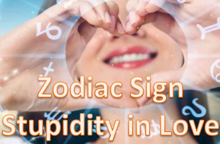 zodiac signs stupid thing in love