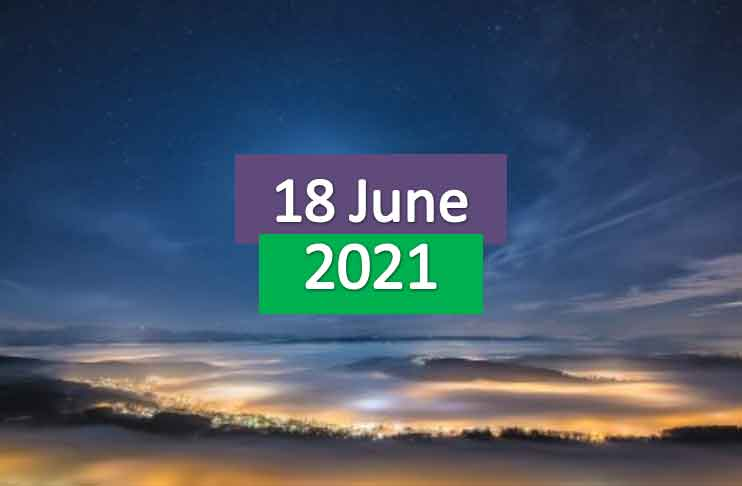 daily horoscope today 18th june 2021