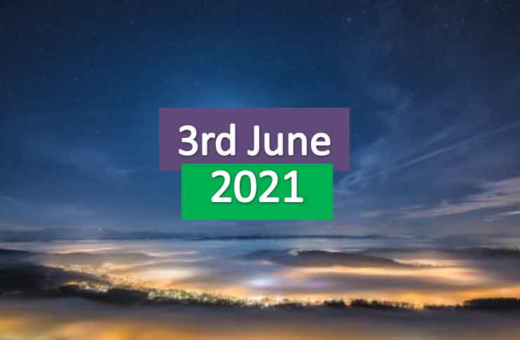 daily horoscope today 3rd june 2021