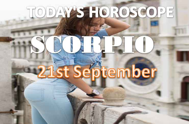 scoprio daily horoscope for today monday september 21st, 2021