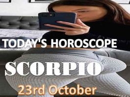 scorpio daily horoscope for today saturday 23rd october, 2021