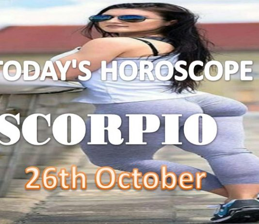 scorpio daily horoscope for today tuesday 26th october, 2021